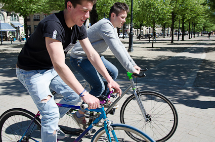 Gautier et Louis, jeunes bordelais adeptes du Fixie